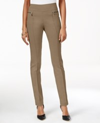 Styleandco. Style Co. Petite Skinny Pull On Pants Only At Macy's Warm Taupe