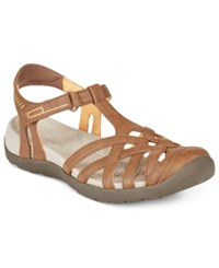 Bare Traps Feena Flat Sandals Women's Shoes Brush Brown