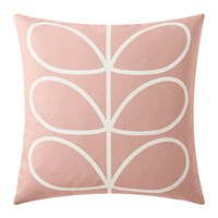 Orla Kiely Linear Stem Cushion 45X45cm Pale Rose