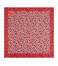 Turnbull And Asser Geometric Maze Pocket Square Unisex Red