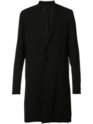 Rick Owens Long Length Coat Black