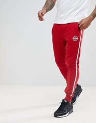 Blend Of America Slim Side Stripe Joggers In Red Pomp Re