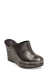 Five Worlds Women's By Cordani Augustine Mule Pewter Leather