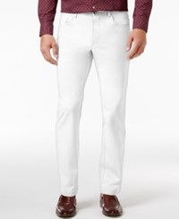 Inc International Concepts Men's Slim Fit Stretch Cotton Jeans Only At Macy's White