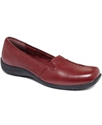 Easy Street Shoes Easy Street Purpose Flats Women's Shoes Cranberry