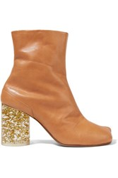 Maison Martin Margiela Leather Ankle Boots Light Brown