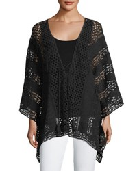 Xcvi Lace Embroidered Voile Poncho Black