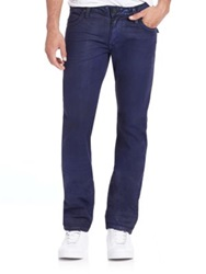 Robin's Jeans Long Flap Studded Straight Leg Jeans Digger Blue