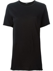 Bassike Round Neck T Shirt Black