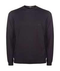 Boss Crew Neck Classic Merino Sweater Black