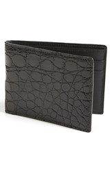 Men's Boconi Crocodile Slimfold Wallet Black