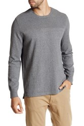 Kenneth Cole Textured Solid Crewneck Sweater Gray