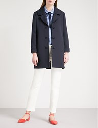 Claudie Pierlot Single Breasted Woven Peacoat Blue