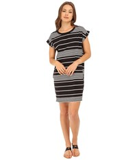 Culture Phit Kingsley Striped T Shirt Dress Black White Women's Dress