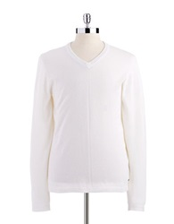 Dkny Classic V Neck Sweater Natural