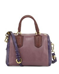 Reese Diamond Lthr Satchel Plum Oryany