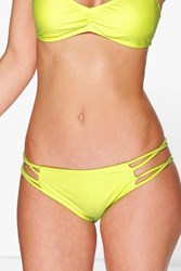 Boohoo Mix And Match Criss Cross Bikini Brief Lime