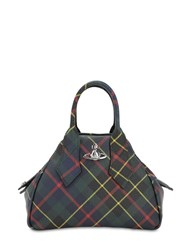 Vivienne Westwood Yasmine Small Coated Canvas Bag Hunting Tartan