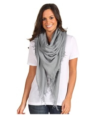 Chan Luu Cashmere And Silk Scarf Griffin Scarves Gray
