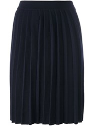 Chinti And Parker Pleated Knee Length Skirt Blue