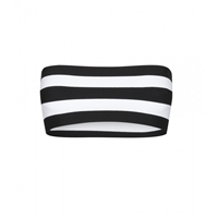 Stella Mccartney Stretch Bandeau Top Black Pure White