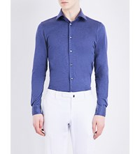 Richard James Contemporary Fit Cotton Shirt Navy