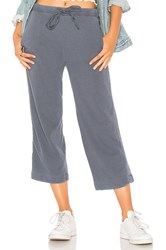 Stateside French Terry Wide Leg Pant Blue