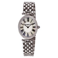 Frederique Constant Fc 200Mpw2v5b Women's Classics Art Deco Bracelet Strap Watch Silver Mother Of Pearl