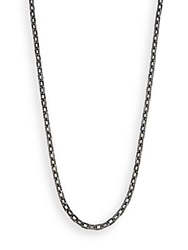 John Hardy Classic Chain Stainless Steel Necklace Gunmetal