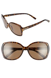 Women's Polaroid Eyewear 58Mm Oversized Polarized Sunglasses Havana Brown Polarized