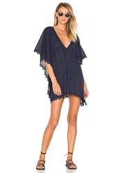 Seafolly Crochet Trim Caftan Navy