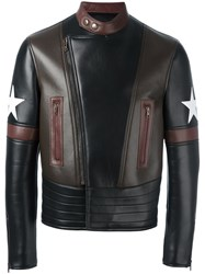 Givenchy Star Patch Biker Jacket Black