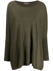 N.Peal Lightweight Cashmere Poncho Green