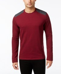 Alfani Men's Space Dyed Long Sleeve T Shirt Only At Macy's Hazy Fire
