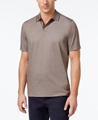 Tasso Elba Men's Supima Blend Cotton Polo Only At Macy's Sepia
