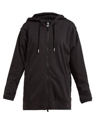 Adidas By Stella Mccartney Essential Zip Front Hooded Sweatshirt Black