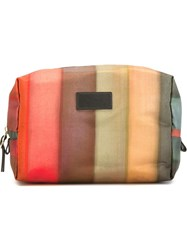 Paul Smith Striped Wash Bag Green