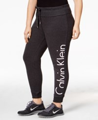 Calvin Klein Performance Plus Size Logo Jogger Pants Slate Heather