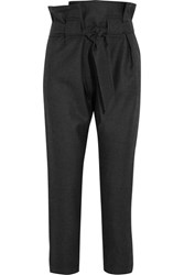 Vivienne Westwood Anglomania Kung Fu Tapered Wool Pants Dark Gray
