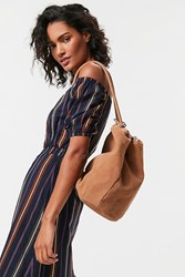 Urban Outfitters Suede Rings Backpack Brown