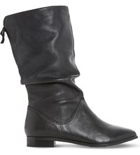 Dune Rosalind Slouchy Leather Boots Black Leather