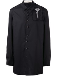 Damir Doma Embroidered Patch Shirt Black