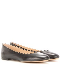Chloe Lauren Leather Ballerinas Black