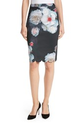 Ted Baker London Laylie Chelsea Print Pencil Skirt Black