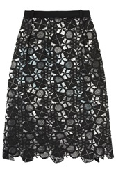 Preen Latex Lace Lined Skirt