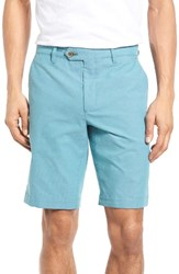 Ted Baker Men's London Mustsho Micro Check Shorts Turquoise