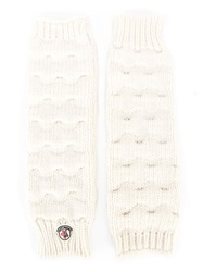 Moncler Fingerless Gloves Nude And Neutrals