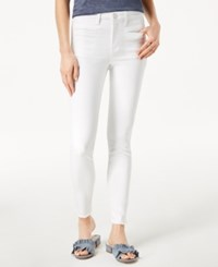Maison Jules Frayed Skinny Jeans Created For Macy's White Wash