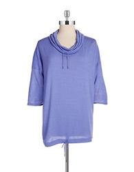 Bench Hooded Cowlneck Top Purple