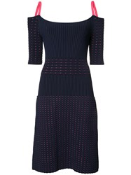 Jason Wu Ribbed Knit Dress Blue
